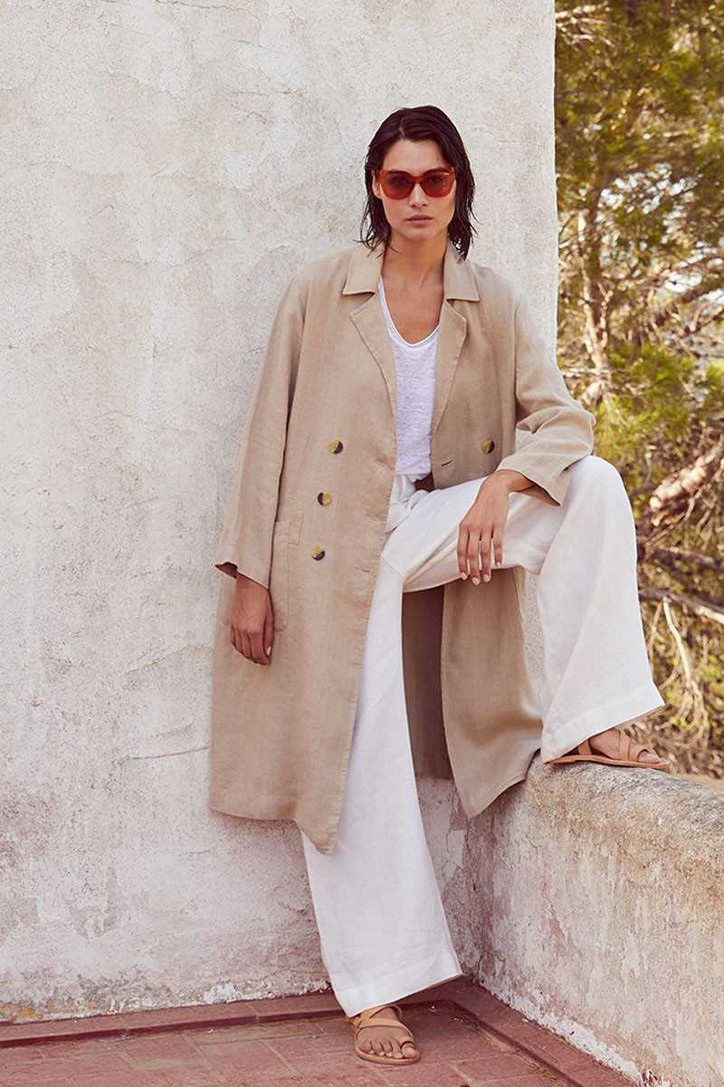 Arena Linen Trench