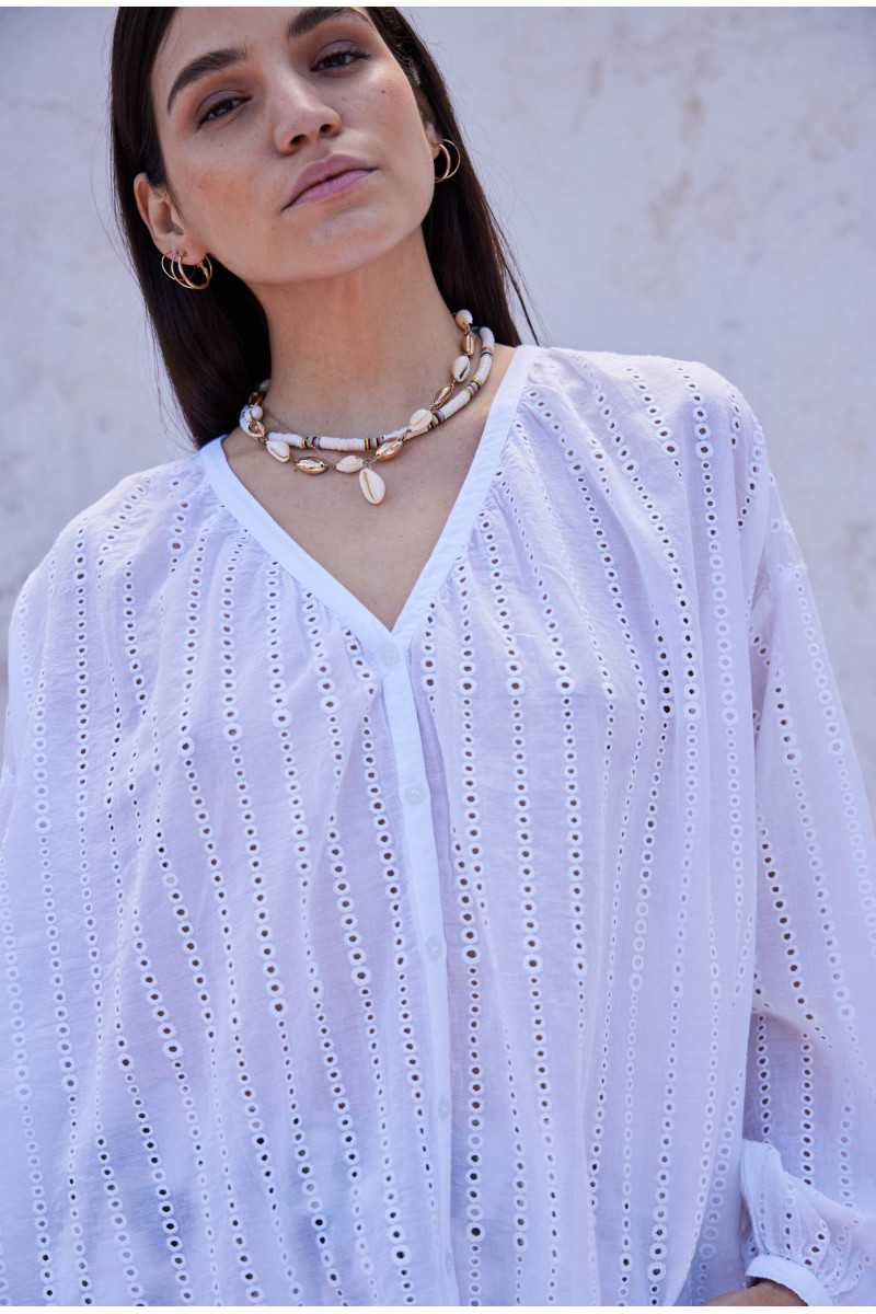 Luce Embroidered Blouse