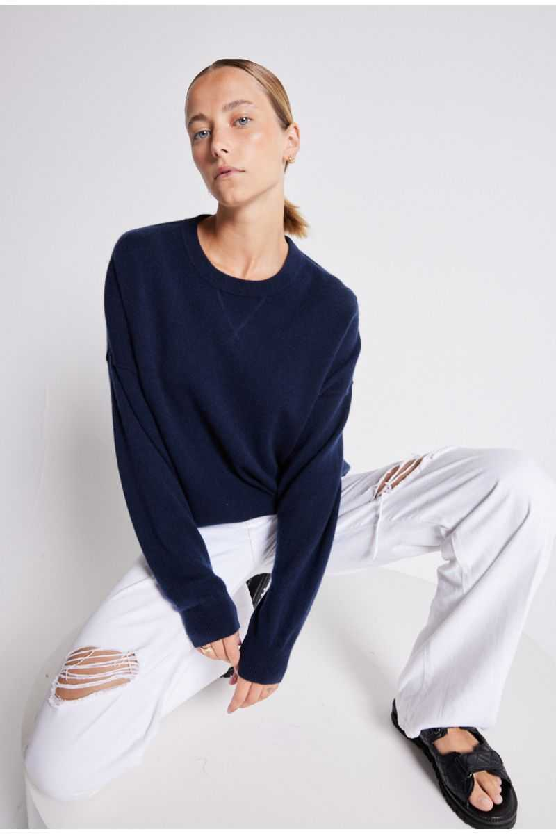 Pull col rond unisexe cachemire Elie