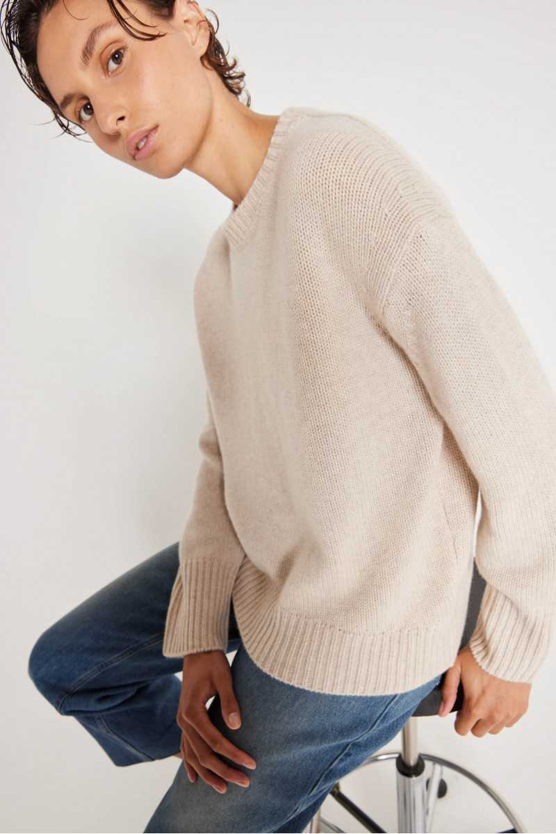 Pull Ines col rond cachemire