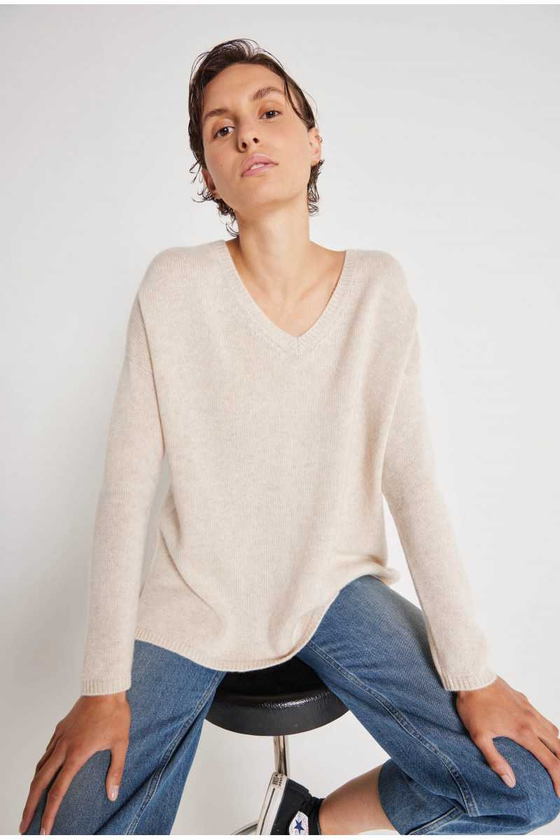 Ines cashmere loose-fitting jumper