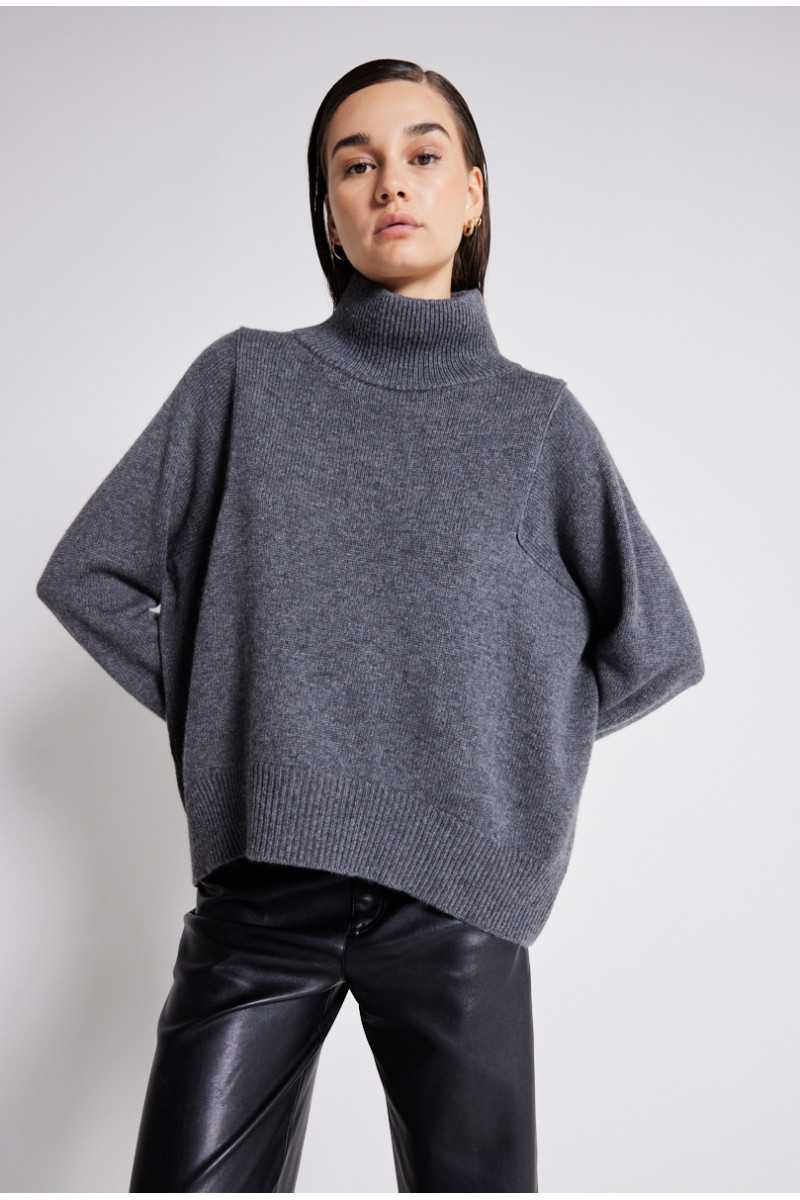 Pull col montant laine Wendy