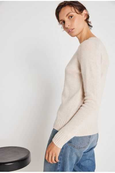 Ines cashmere detail sleeves jumper