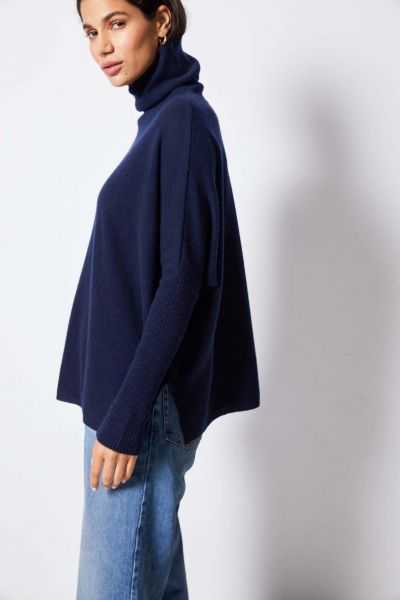 MARGARETH Roll Neck Poncho Jumper