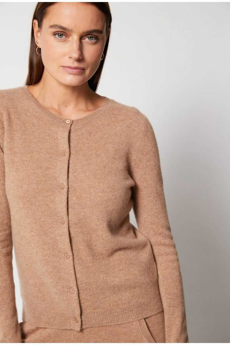 Cardigan Col Rond Ml 100%cashmere 12gg