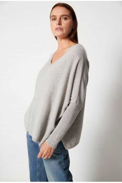 Faustine Poncho In Recycled Cashmere