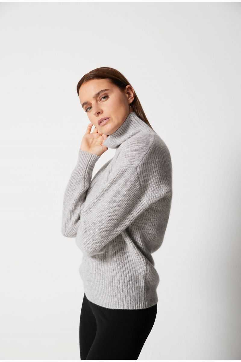 Pull Col Montant Ml A Cotes 100%cashmere 7gg