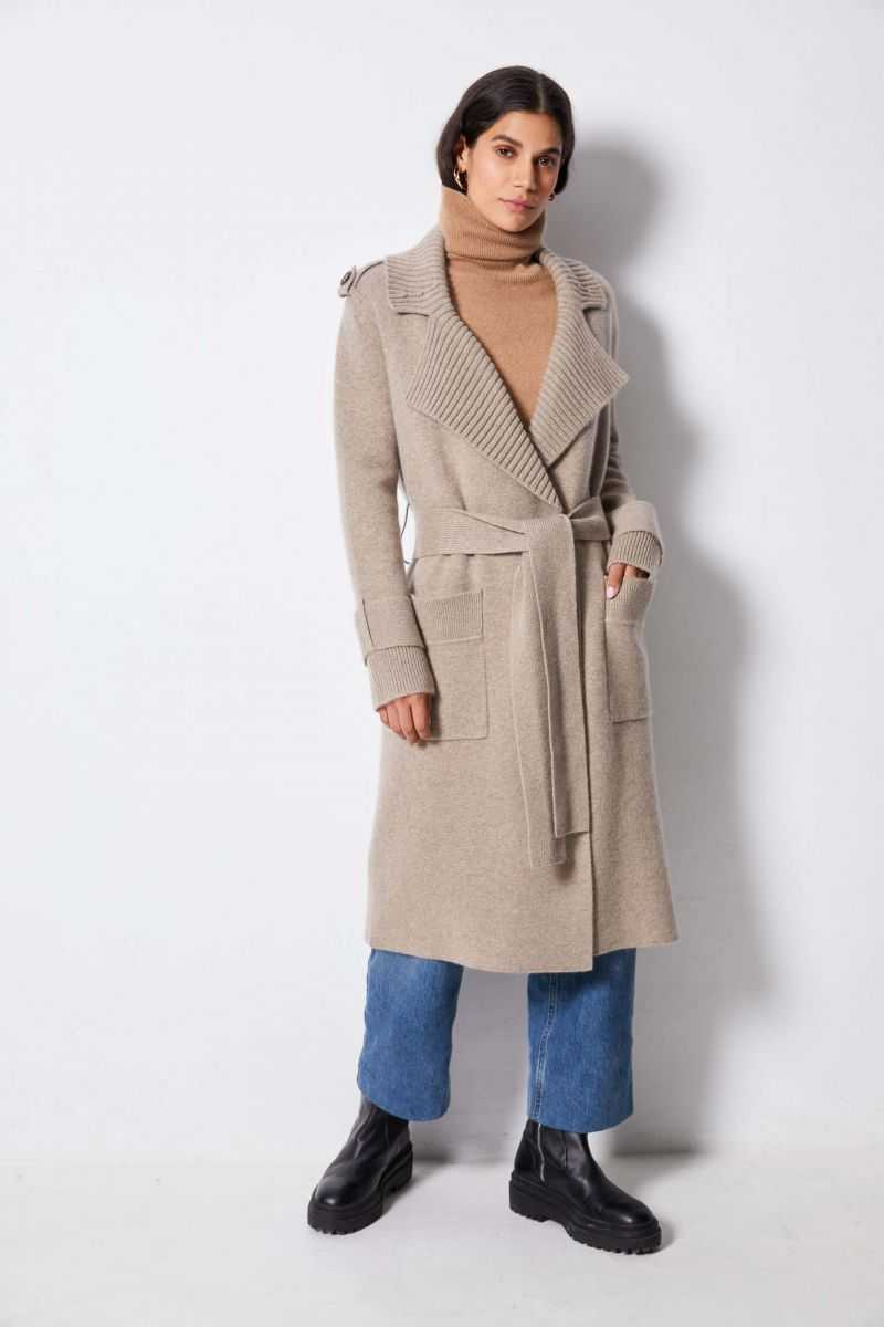 Trench 100%cashmere 12gg