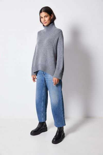 Pull Col Montant Ml Oversize 90%mew 10%ws